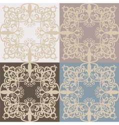 Vintage lace pattern set vector image