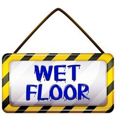 Wet floor signboard vector