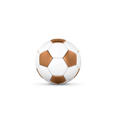 White and gold soccer ball on white background vector