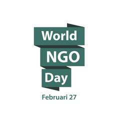World ngo day template design vector