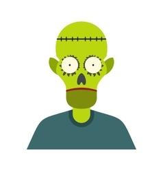 Zombie icon flat vector image