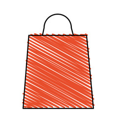color crayon stripe bag for shopping vector image vector image