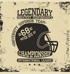 football athletics typography sportswear emblem vector image vector image
