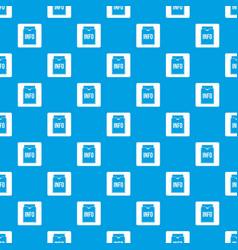 info folder pattern seamless blue vector image vector image