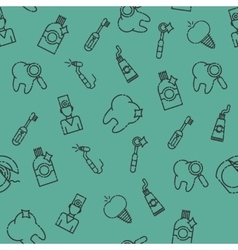 Stomatology set pattern vector image