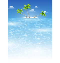 Tropical landscape by day vector image