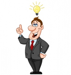 businessman under light bulb vector image