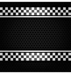 Metallic perforated gray sheet vector image vector image
