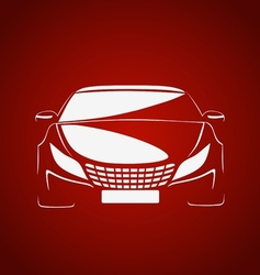Auto in red vector image