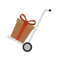 Cart boxes delivery icon vector