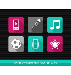 Entertainment flat icons set vector image vector image