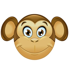monkey emoticon vector image