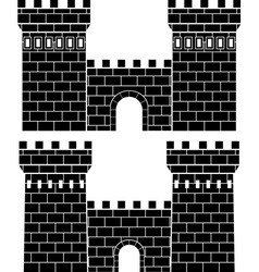 two gates vector image vector image