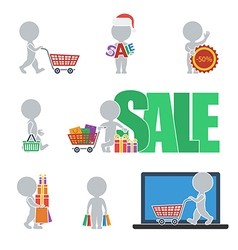 Flat people sale vector image