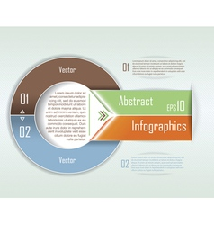 Modern Infographics template Circle design vector image vector image