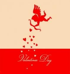 retro Valentine's background vector image vector image