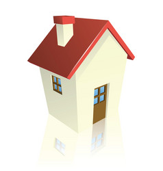 stylised cottage or house vector image vector image