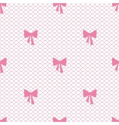 Vintage lace background small bows vector image