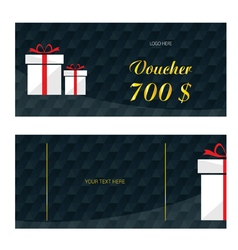 voucher with white gift box vector image vector image