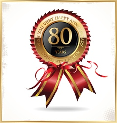 80 years anniversary label vector