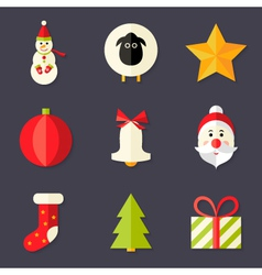 9 Christmas Icons Set 8 vector image