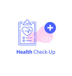 annual health check up cardiovascular vector image