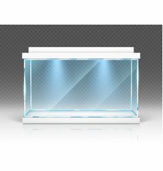 Aquarium glass box terrarium with backlight vector