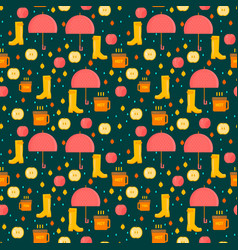 Autumn stuff pattern vector
