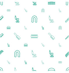 Barbershop icons pattern seamless white background vector