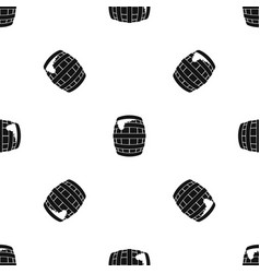 barrel of beer pattern seamless black vector image