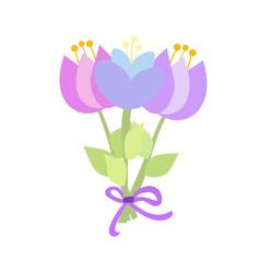 beautiful decorative bouquet vector image