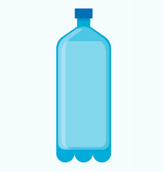 big plastic bottle of fresh water isolated vector image