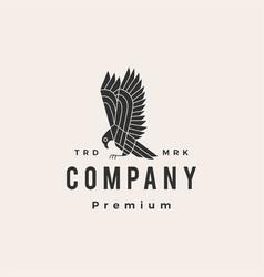 bird prey hipster vintage logo icon vector image