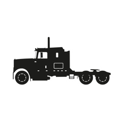 Black silhouette of a tractor truck vector image