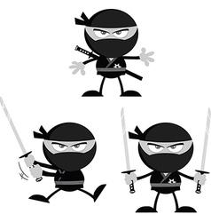 Cartoon ninja vector image