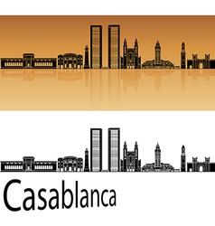 Casablanca skyline in orange vector