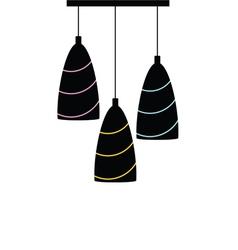 Chandelier silhouette black vector