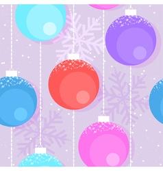 Christmas decorative balls vector