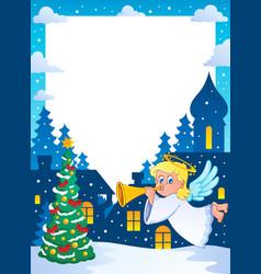 Christmas topic frame 2 vector