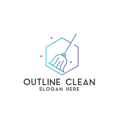 clean logo design template isolated vector image