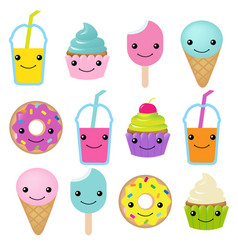 Collection sweets emotion vector