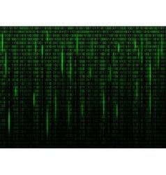 Computer screen binary data code vector