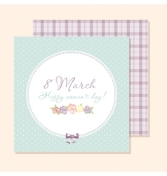Congratulations card 8 march vector