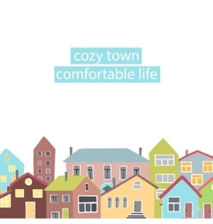 Copyspace frame with different houses vector