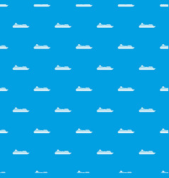 cruise liner pattern seamless blue vector image