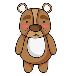 Cute and surprised bear wild animal vector