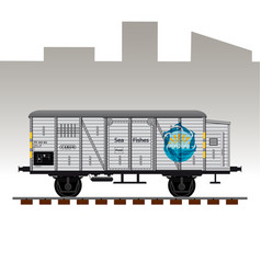 detailed railway wagon vector image