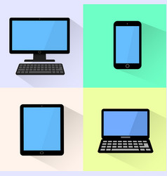 devices icon black computer laptop tablet and vector image