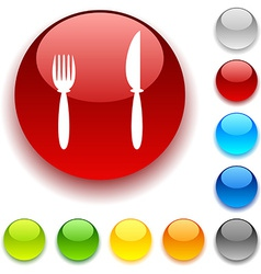 Dinner button vector