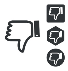 Dislike icon set monochrome vector
